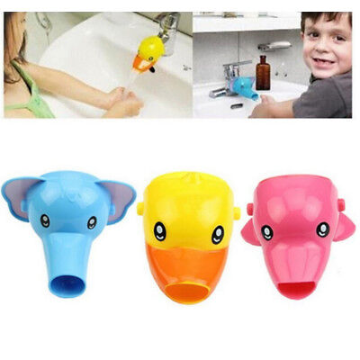 Animals Faucet Extender Kids Happy Fun Tubs Baby Hand Washing Bathroom Sink New 9