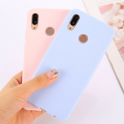 Candy Color Case for Huawei Y5 Y6 Y7 Y9 Honor 8x P20 Cover Smart Soft Silicon 5