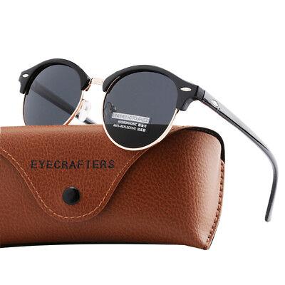 Fashion Vintage UV400 Outdoor Shades Women Mens Retro Round Polarized Sunglasses 2