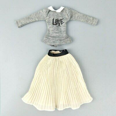 "Fashion Doll Clothes Top Blouses Chiffon Pleated Skirt For 11.5"" Dolls Clothes 7"