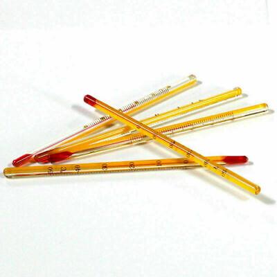 1/3/5/10Pcs Yellow 0-50℃ Glass Thermometer Laboratory Chemistry Glassware 2
