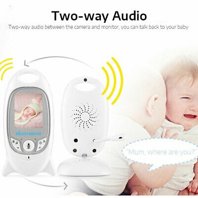 """2"""" Baby Monitor 2.4GHz Color LCD Wireless Audio Talk Night Vision Digital Video 5"""