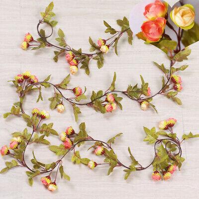 Cute 7Ft Artificial Fake Silk Rose Flower Hanging Garland Garden Wedding Decor 11