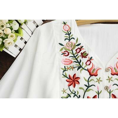 Hot Women Ethnic Mexican Floral Boho Peasant Dress Lady Materity Pregnant Dress! 9