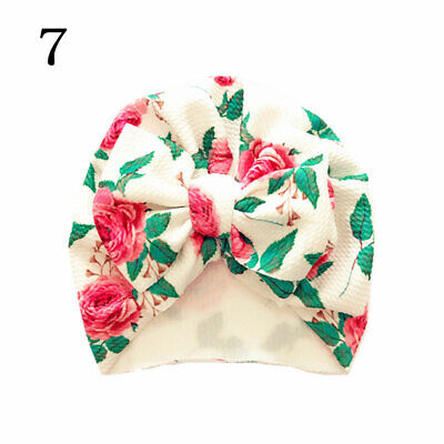 Newborn Baby Hat Head Wrap Flower Soft Bowknot Baby Turban Cap For Girl Toddler 9