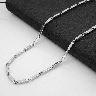 3mm Wholesale 316L Stainless Steel Rhombus Square Chains Necklace 18''-28'' 3