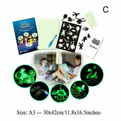 Light Drawing Board Sketch Pad Doodle Writing Craft Art for Children Kid Gift US 10