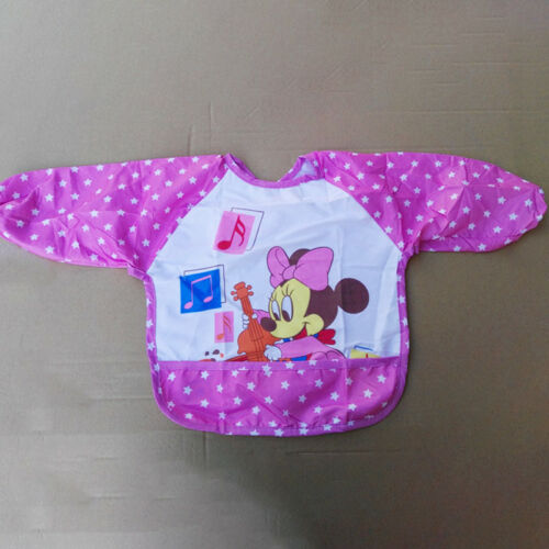 Kids Baby Bibs With Long Sleeve Waterproof Toddler Feeding Craft Apron Painting 9