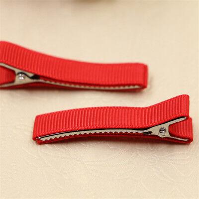 DIY 10PCS Blank Hair Snaps Hair Clips Hairclips Covered Grosgrain Ribbon Craft 2
