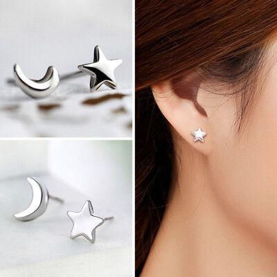 925 Sterling Silver 3 Star Stud Earrings Ear Jewellery Women UK Small Animal New 3