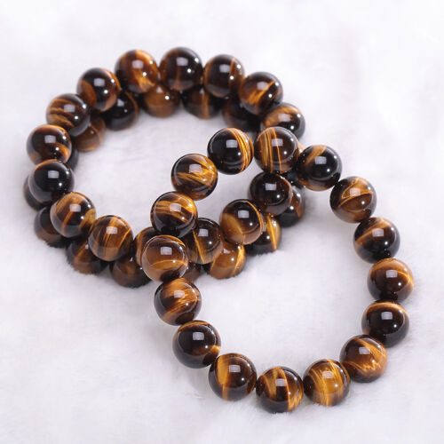 10MM Natural Colorful Tiger Eye Stone Gemstone Beads Men Jewelry-Bangle-Bracelet 3