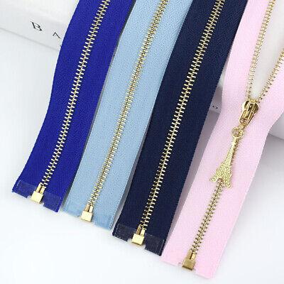1Pc 20/40/50/60/70CM  Gold Teeth Metal Zips Sewing Zip Garment Accessories 3