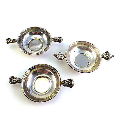 Set: 6 Vintage MAR Latin American 0.900 Silver Open Salts w/ Figural Handles