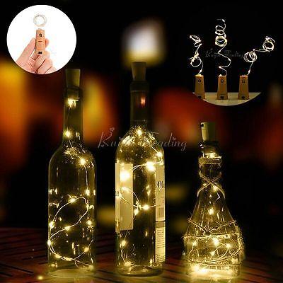 20 LED sughero forma stellata notte luce vino bottiglia lampada valentino sposa