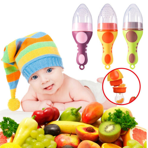 2 x Deluxe Baby Weaning Safety Fresh Food Mesh Holder Feeder Fruit Vegetables