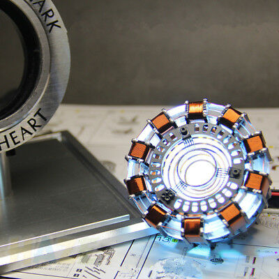 DIY Iron Man Tony Stark MK1 Arc Reactor Display Box USB Powered/Remote Control 4