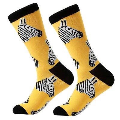 Men/Women Cotton Animal Bird Shark Zebra Corn Sea Food Novelty Funny Dress Socks