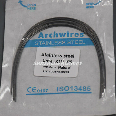1 Pack Dental Ortho Stainless Steel Arch Wire Rectangular Square/Ovoid/Nature 10
