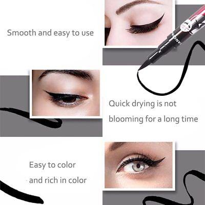 eyeliner feutre précision 36 H waterproof longue tenue noir violet bleu marron 4