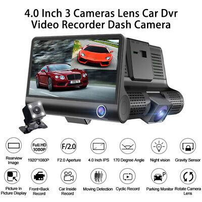 "1080P Car DVR 4""Dual Lens Dash Cam Front and Rear Video Recorder Camera G-sensor 4"