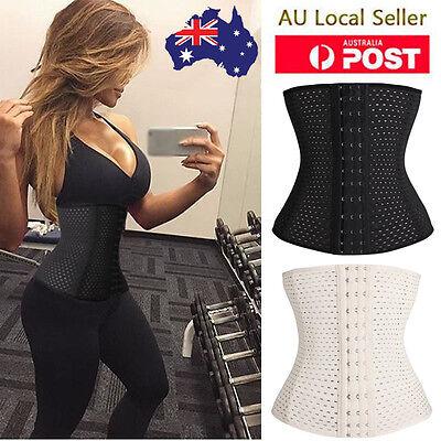 Women Waist Trainer Cincher Tummy Girdle Belt Body Shaper Black Corset Trimmer )