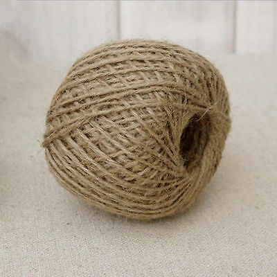 Hot 30M Natural Brown Jute Hessian Burlap Twine Sisal Rustic String Cord Top DD