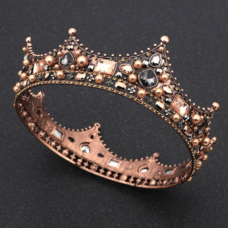 Retro Baroque Crystal Wedding Bridal Crown Tiara Women Ladies Hair Accessory CH