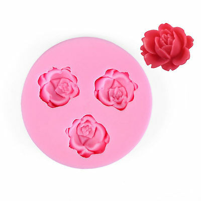 3D Silicone Rose Flower Fondant Cake Decorating Mold Chocolate Mould Bakewa A3W7