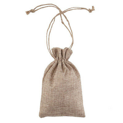 5-50pc Small Burlap Jute Hessian Wedding Favor Pack Gift Bags Drawstring Pouches 11
