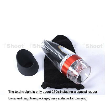 New Quick Smart Decanter Fast Red Wine Filter Portable Essential Aerator Set 4