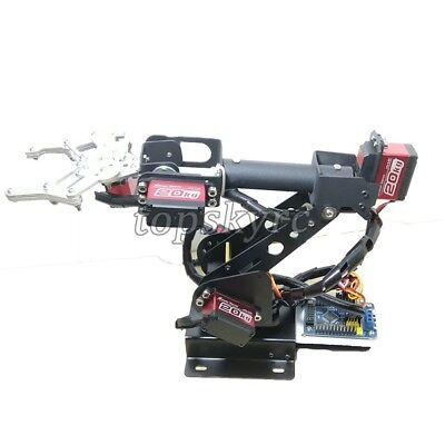 SZ Top Assembled 6DOF Robot Arm Clamp Set DIY Robotic Kit W/ Large Torque Servo 5
