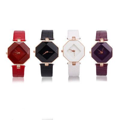 New Fashion Women 's Leather Band Analog Quartz Diamond Wrist Watch Watches 5