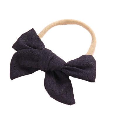 Baby Kids Toddler Soft Cotton Bow Tie Ring Nylon Headband Girls Hair Accessories 4