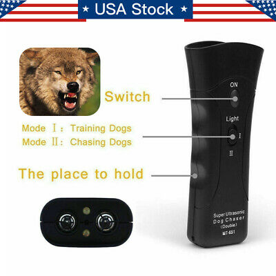 Anti Dog Barking Pet Trainer LED Light Ultrasonic Gentle Chaser Petgentle Style 5