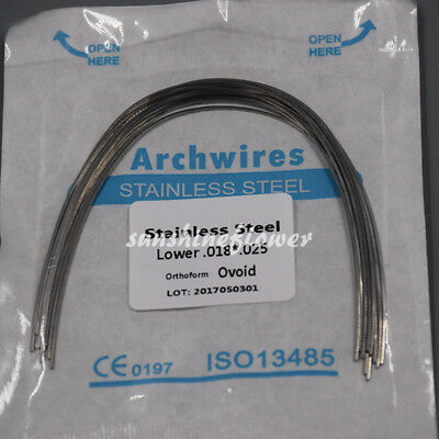 1 Pack Dental Ortho Stainless Steel Arch Wire Rectangular Square/Ovoid/Nature 8