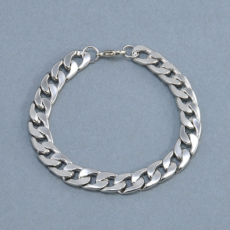 Men's Stainless Steel Silver Chain Link Bracelet Wristband Bangle Jewelry Punk 9