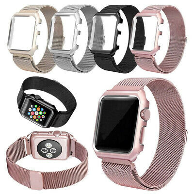For Apple Watch Series 4 3 2 1 Magnetic Milanese Loop Band 38mm 42mm 40mm 44mm 3