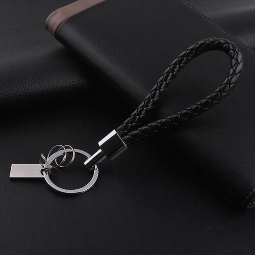 Cool Mens Leather Key Chain Ring Holder Keyfob Car Keyring Keychain Pendant Gift 2