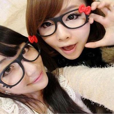 Hello Kitty Bow Bowtie Women Girls Glasses Frame Costume Nerdy Gift No Lens