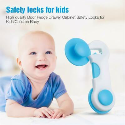 Child Safety Locks Cupboard Baby Proof Cabinet Drawer Kitchen Toilet Seat Straps 2