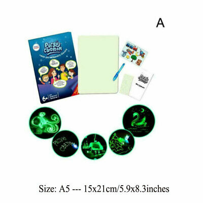Light Drawing Board Sketch Pad Doodle Writing Craft Art for Children Kid Gift US 12
