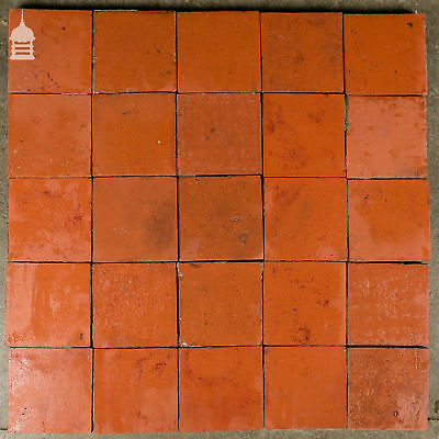 Reclaimed 6x6 Thick Red Quarry Tiles 6 Inch x 6 Inch Floor Tiles 3