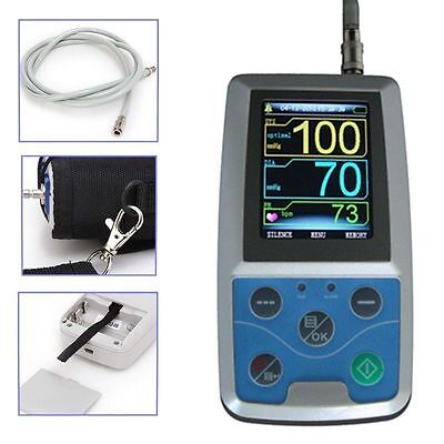 NIBP Monitor 24HOUR Ambulatory Blood Pressure Holter ABPM 50+SOFTWARE+Oximeter 2