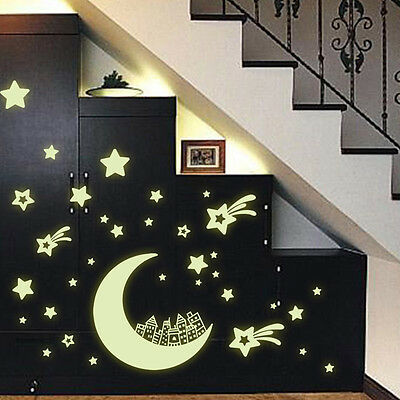 QT-0085 Glow in the dark home decor wall sticker decals kids baby gift DIY 4