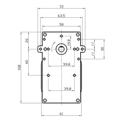 Motoriduttore Kenta per stufe pellet K9117156 vel 5 rpm Pacco 40 mm diam 8,5 mm 3