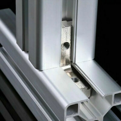 10X 6mm T-Slot Aluminum Profile L Brackets 90º Interior Corner Connector EU-2020 9