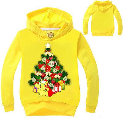 Natale Tema Bambino Felpe Con Cappuccio Giacca Top Vestiti 7