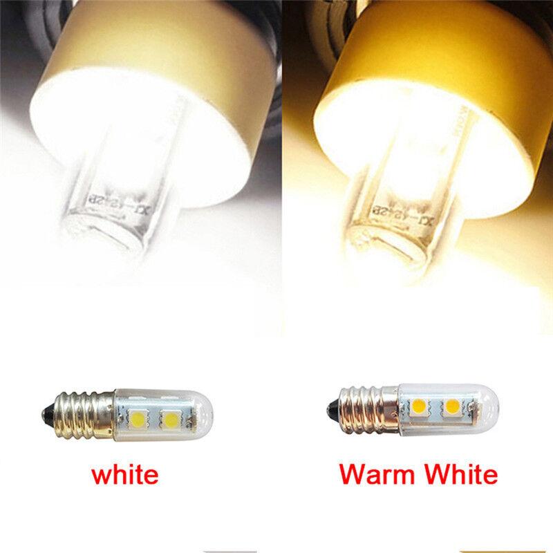 Lampe à ampoule de réfrigérateur blanc chaud AC 220V E14 1W 7 LED 5050 SMD KK