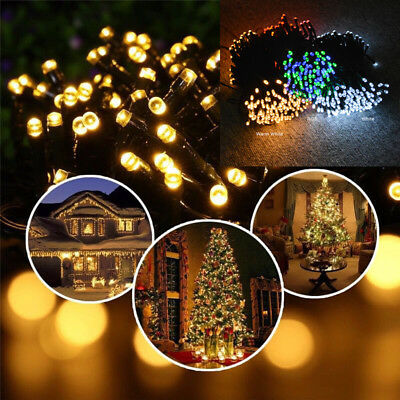 50/100/200 LED Solar Power Fairy Garden Lights String Outdoor Party Wedding Xmas 2