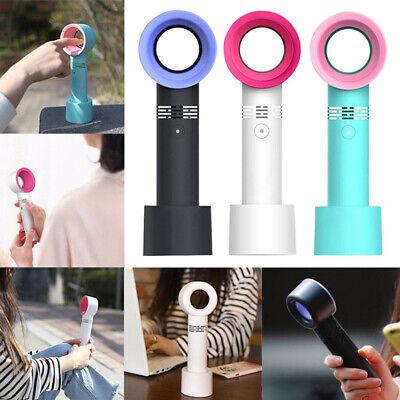"360 Degrees Portable Bladeless Hand Held Cooler Mini USB No Leaf Handy Fan ""New"" 10"